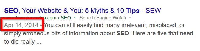 Datum van een webpagina zichtbaar