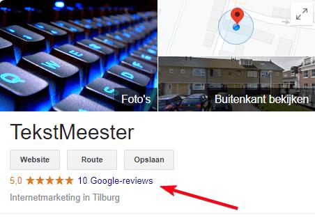 Reviews kennisvenster Google Mijn Bedrijf