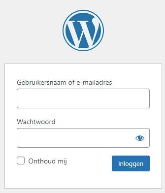 WordPress-inlogscherm.